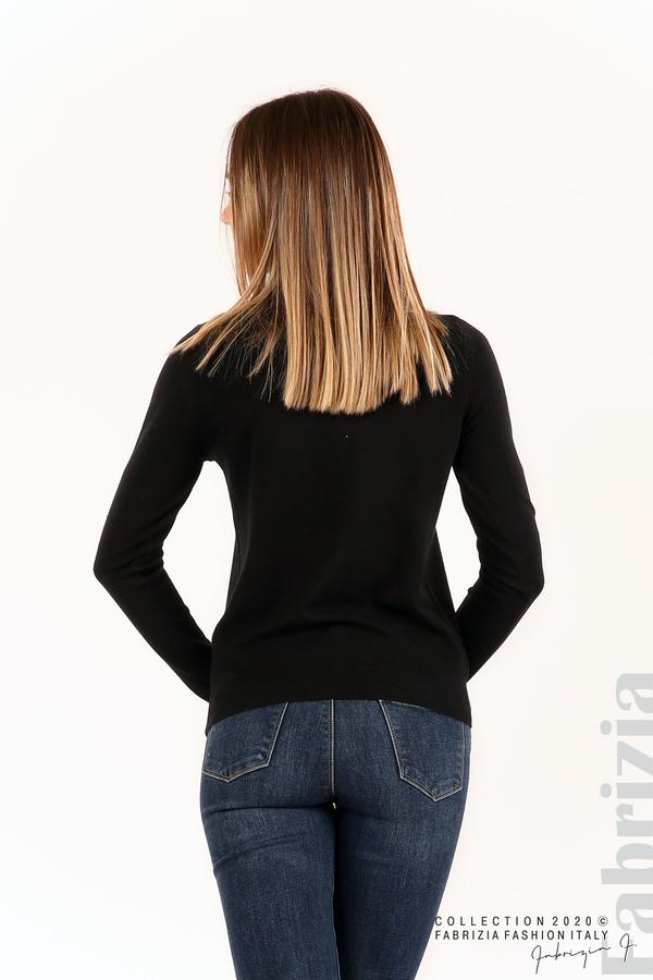 Плетена жилетка с украсителни копчета черен 5 fabrizia
