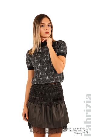Блуза с фигурални елементи и ламе