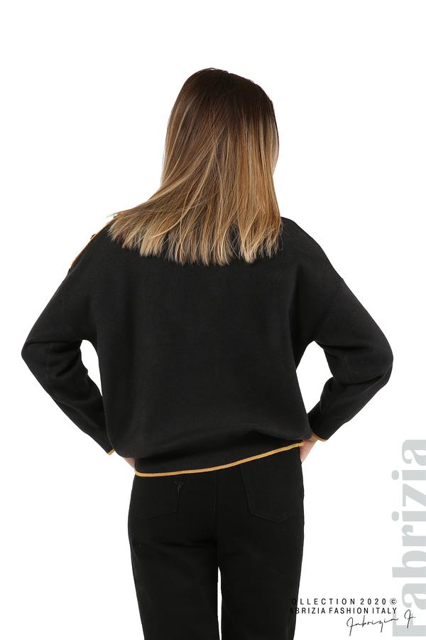 Блуза с акцент на рамото т.сив 6 fabrizia