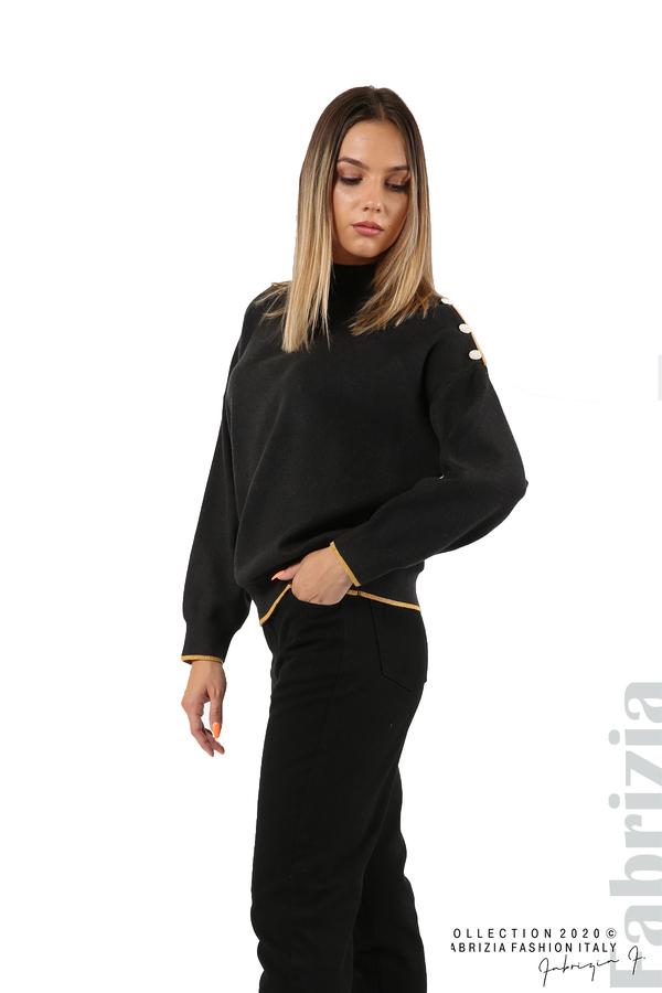 Блуза с акцент на рамото т.сив 5 fabrizia