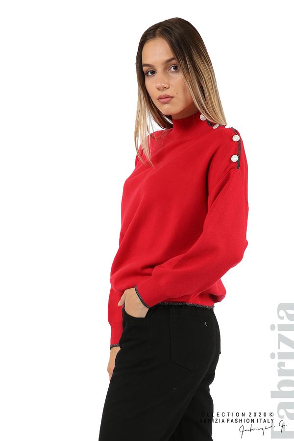 Блуза с акцент на рамото червен 2 fabrizia