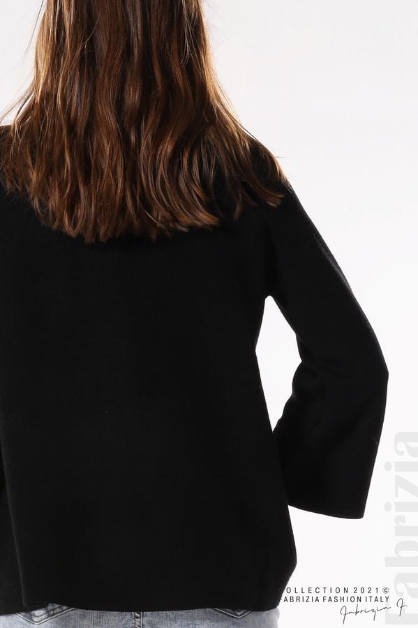 Едноцветна жилетка с копчета-mix черен 3 fabrizia