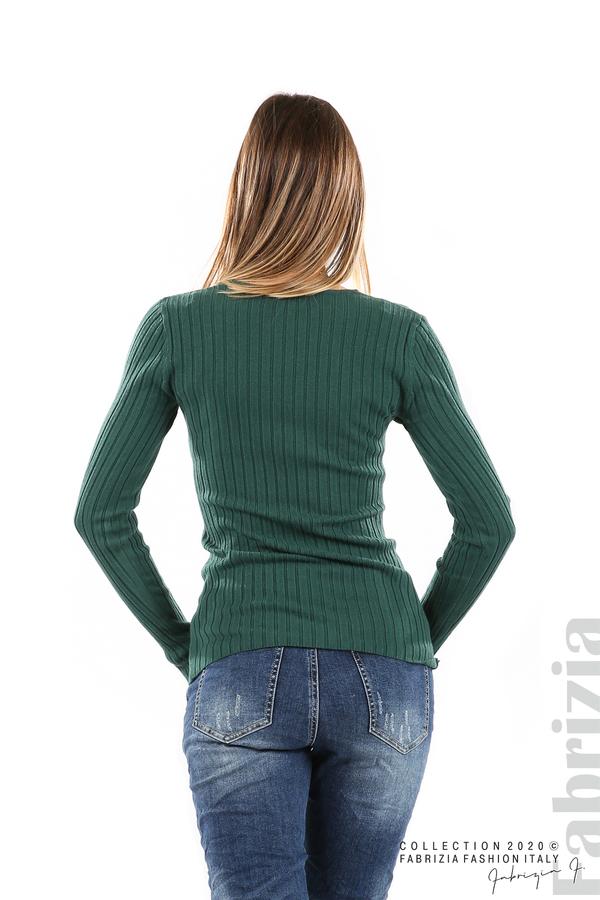 Едноцветна рипсена блуза т.зелен 5 fabrizia