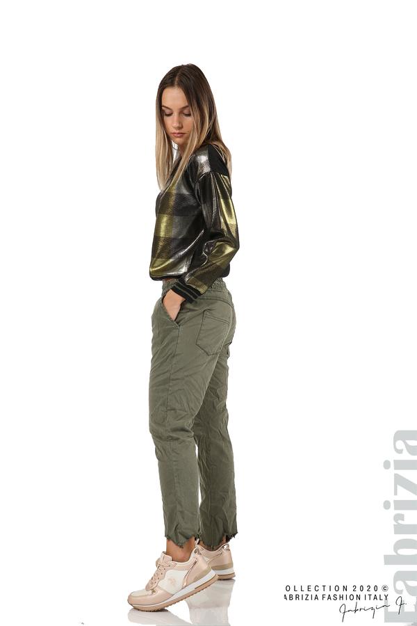 Блуза с лъскава предна част черен/жълт 4 fabrizia