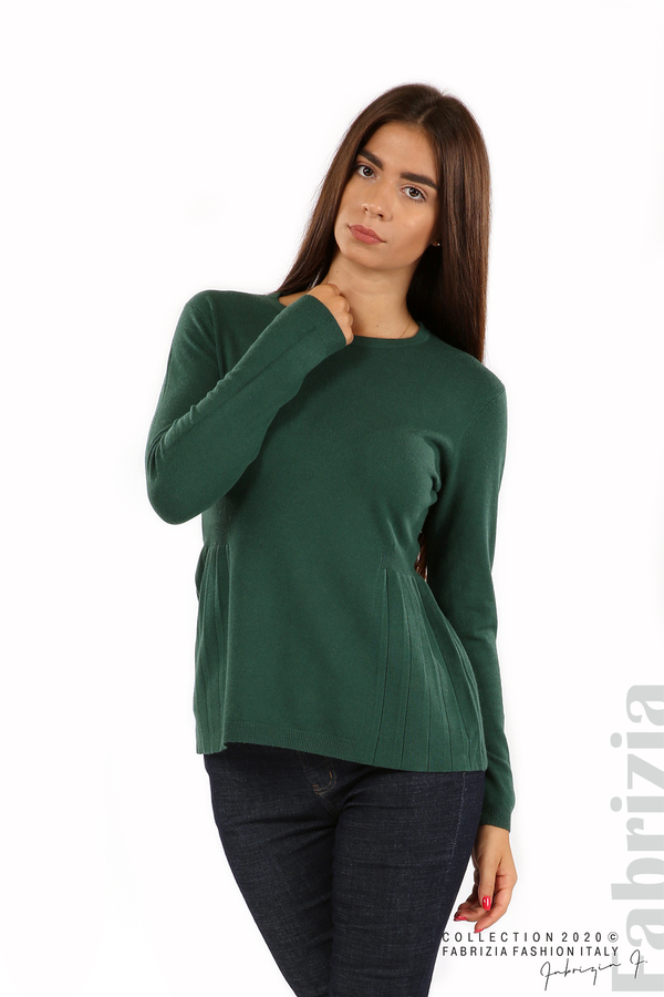 Блуза със странично плисе т.зелен 1 fabrizia