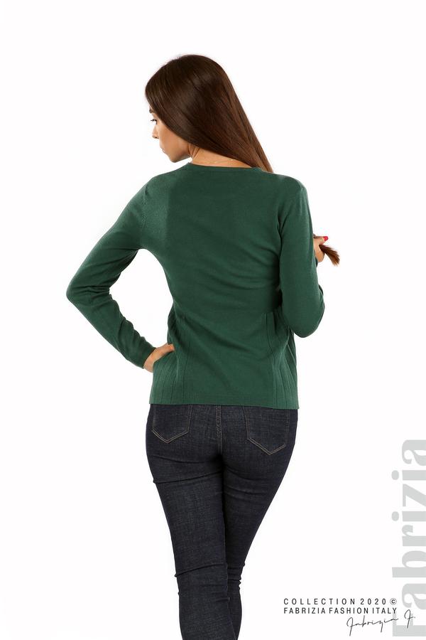 Блуза със странично плисе т.зелен 4 fabrizia