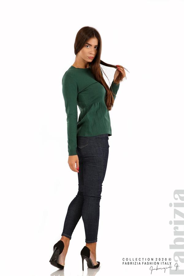 Блуза със странично плисе т.зелен 3 fabrizia