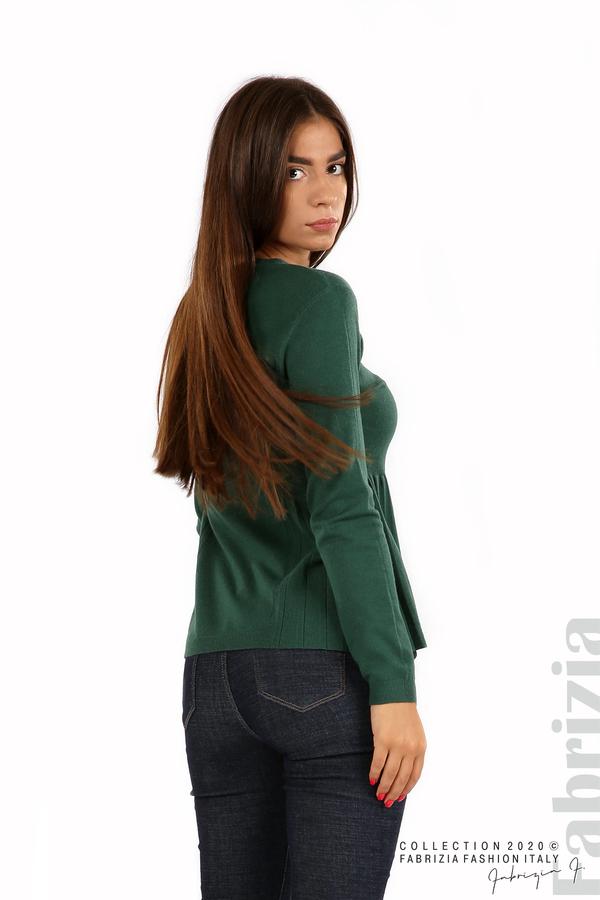 Блуза със странично плисе т.зелен 5 fabrizia