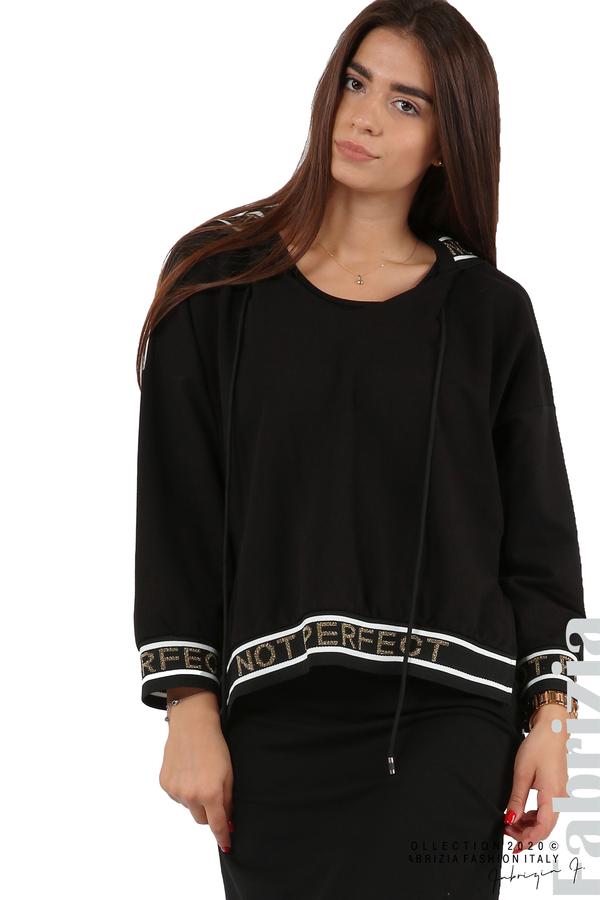Комплект рокля и блуза с качулка черен 7 fabrizia