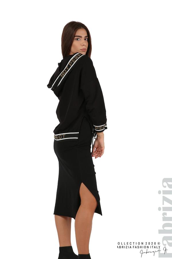 Комплект рокля и блуза с качулка черен 8 fabrizia