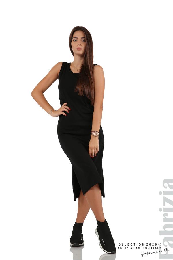 Комплект рокля и блуза с качулка черен 4 fabrizia
