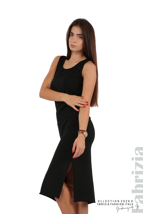Комплект рокля и блуза с качулка черен 2 fabrizia