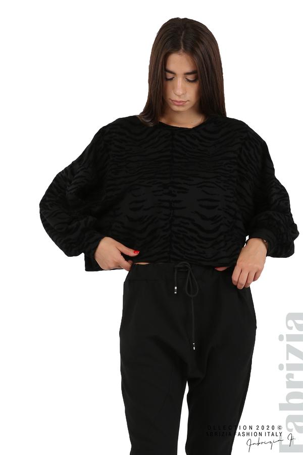 Трикотажен панталон с виснало дъно черен 5 fabrizia