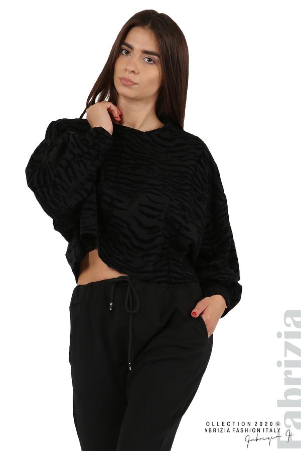 Трикотажен панталон с виснало дъно черен 3 fabrizia