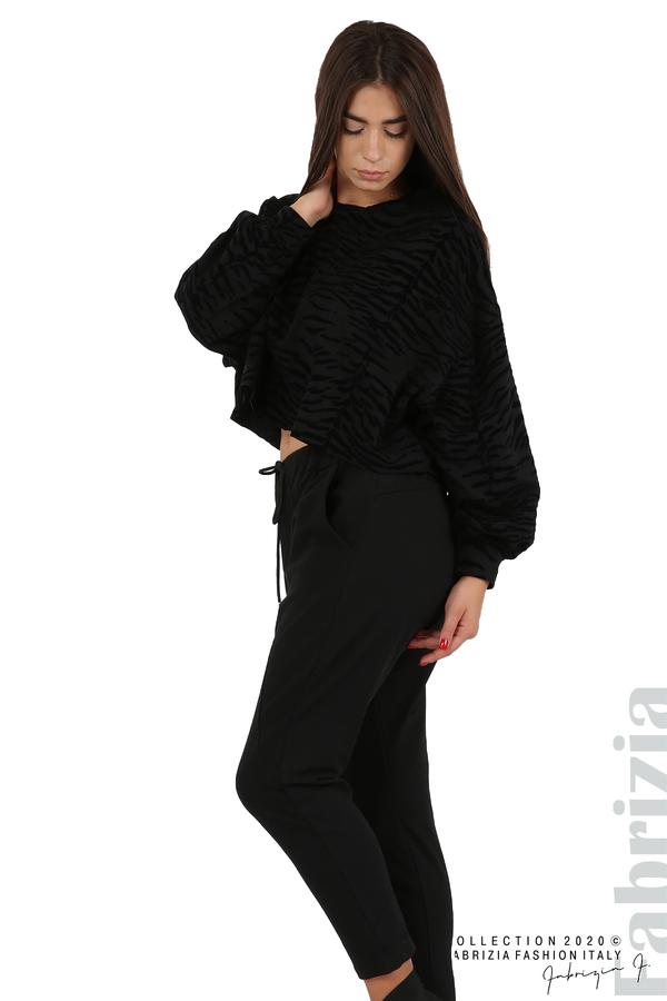 Трикотажен панталон с виснало дъно черен 6 fabrizia