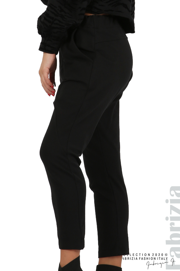 Трикотажен панталон с виснало дъно черен 1 fabrizia