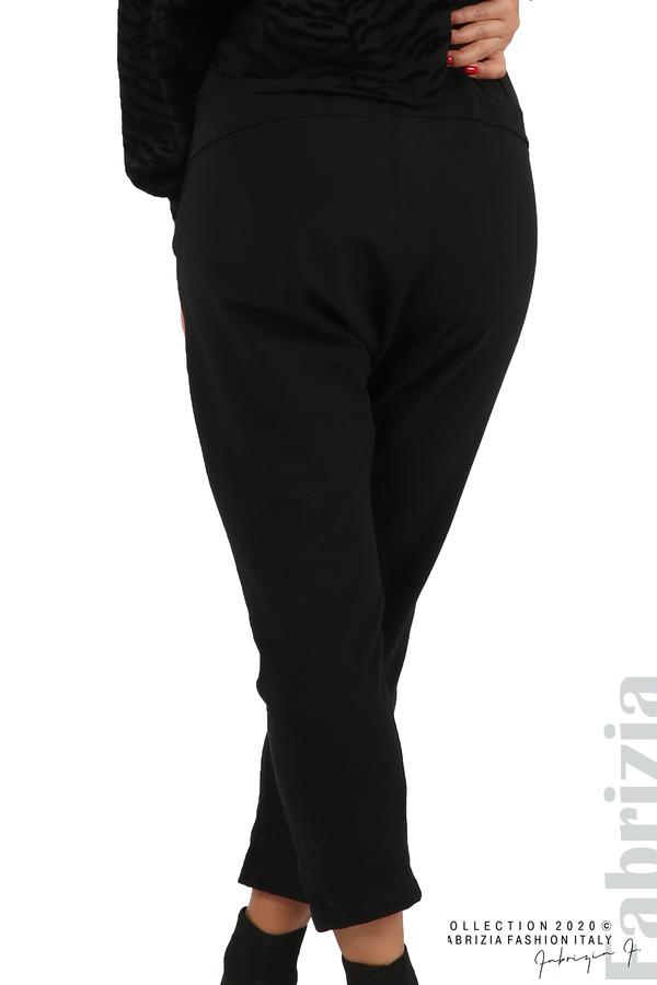 Трикотажен панталон с виснало дъно черен 10 fabrizia