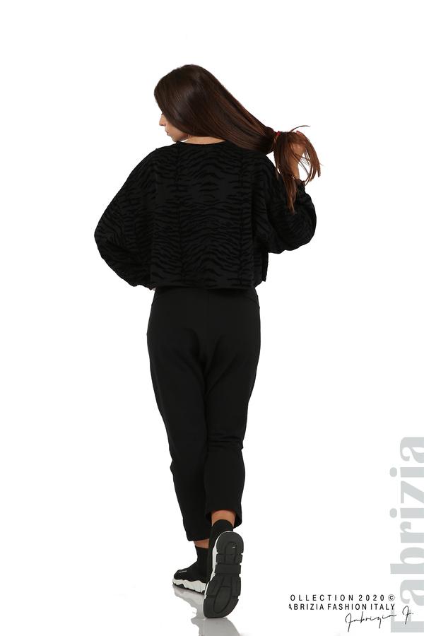 Трикотажен панталон с виснало дъно черен 9 fabrizia