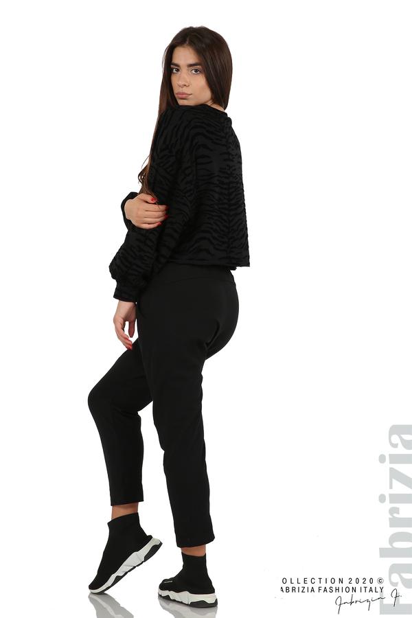 Трикотажен панталон с виснало дъно черен 8 fabrizia