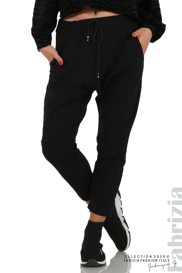 Трикотажен панталон с виснало дъно черен 7 fabrizia