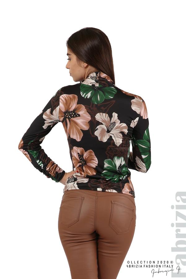 Блуза с прехвърляне в предната част черен 1=6 fabrizia