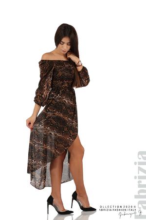 Ефирна рокля с голи рамене