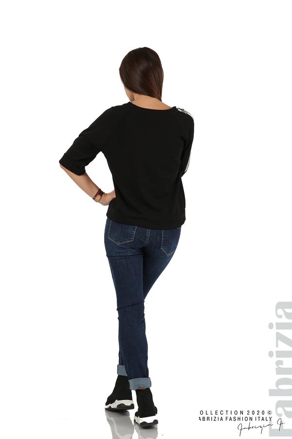 Дамска блуза с надпис Utopia черен 6 fabrizia