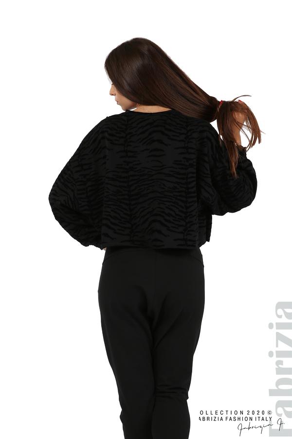 Свободна блуза с кадифени елементи черен 6 fabrizia