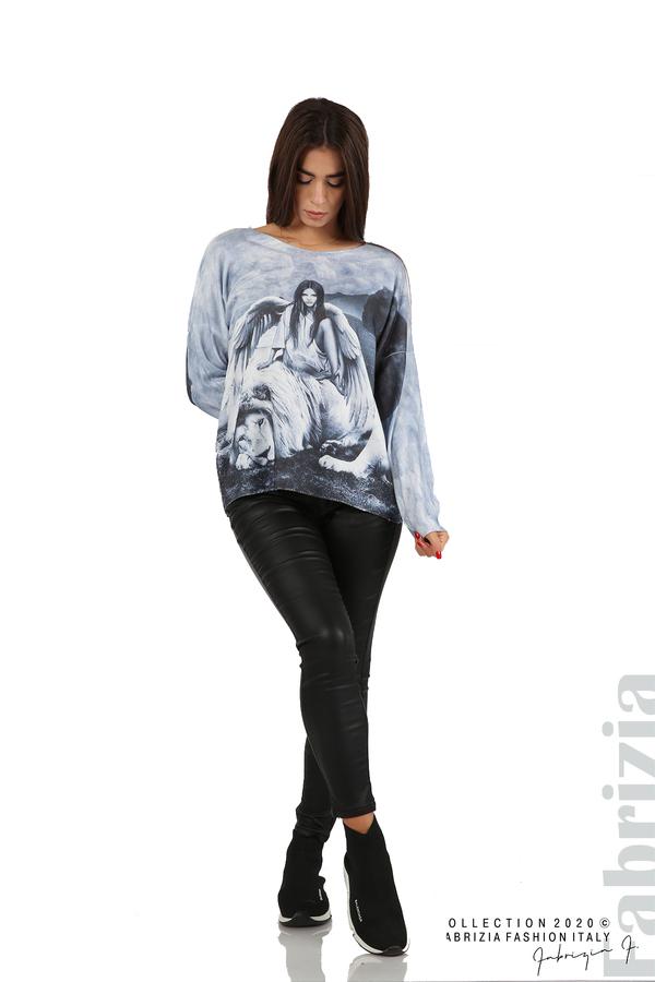 Дамска блуза с ангел и лъв св.син 3 fabrizia