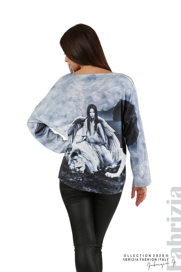 Дамска блуза с ангел и лъв св.син 6 fabrizia
