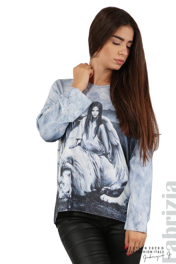 Дамска блуза с ангел и лъв св.син 4 fabrizia