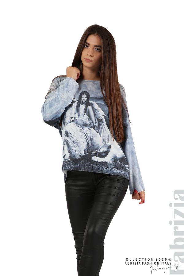 Дамска блуза с ангел и лъв св.син 5 fabrizia