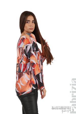 Блуза фино плетиво със снимки и надписи