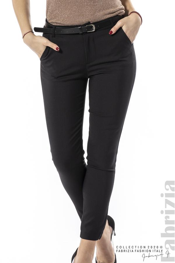 Елегантен панталон с италиански джоб черен 2 fabrizia