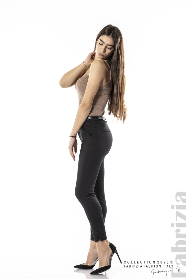 Елегантен панталон с италиански джоб черен 4 fabrizia