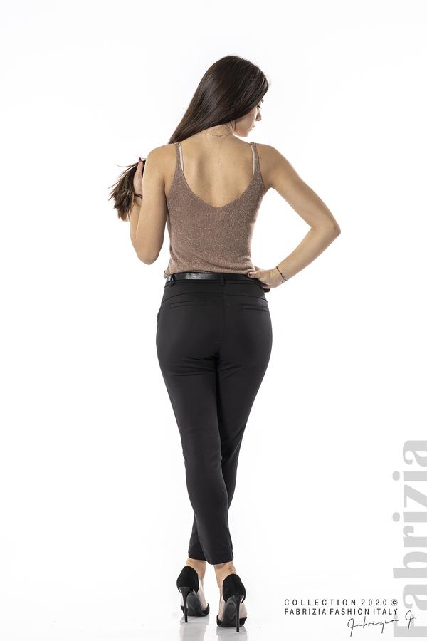 Елегантен панталон с италиански джоб черен 6 fabrizia