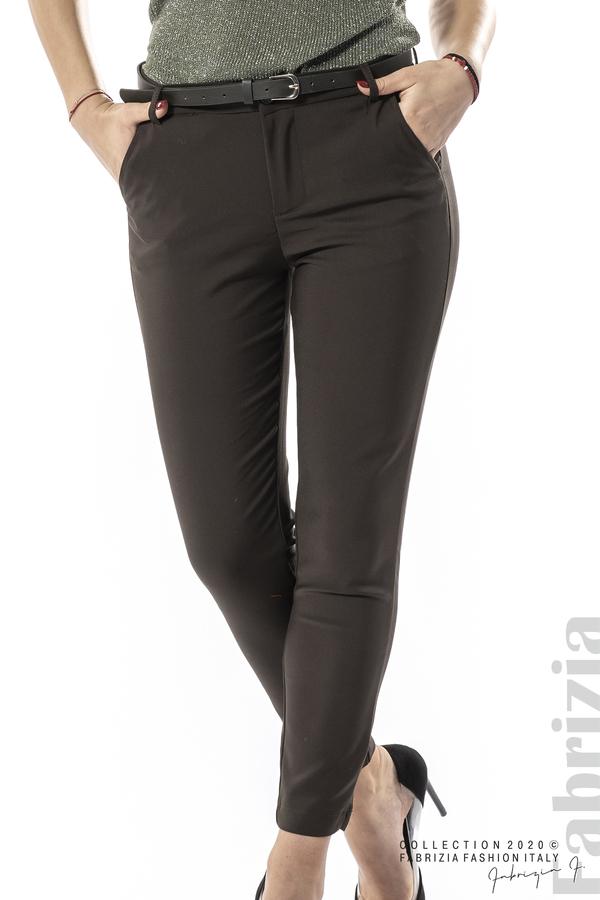 Елегантен панталон с италиански джоб каки 1 fabrizia