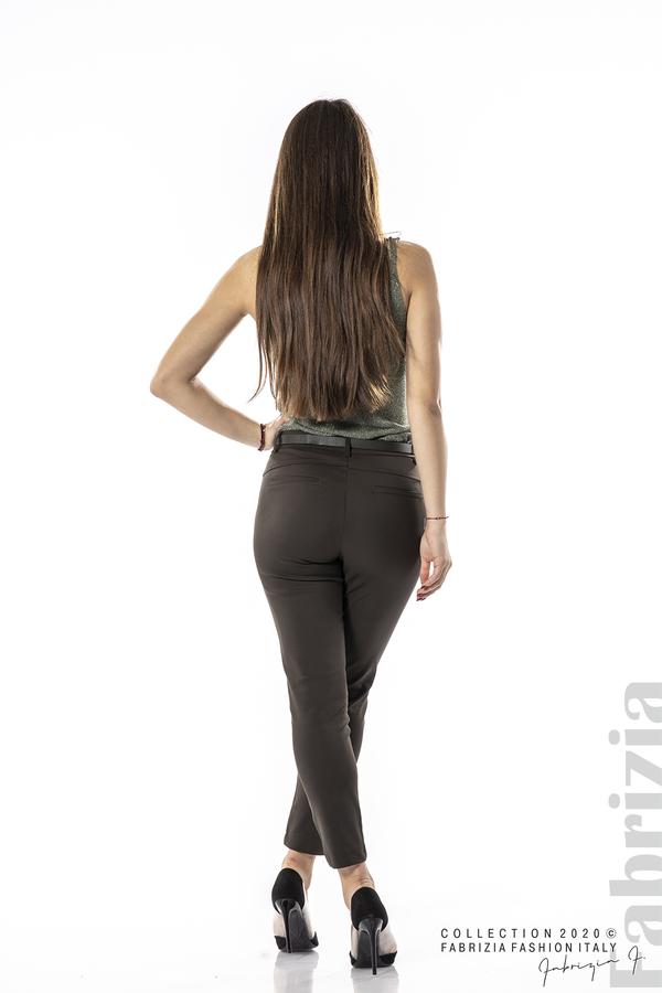 Елегантен панталон с италиански джоб каки 4 fabrizia