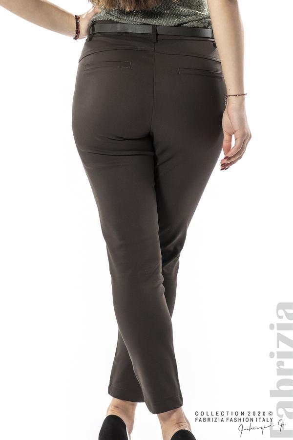 Елегантен панталон с италиански джоб каки 5 fabrizia