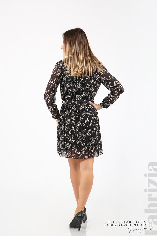 Къса рокля солей с флорални елементи черен 7 fabrizia
