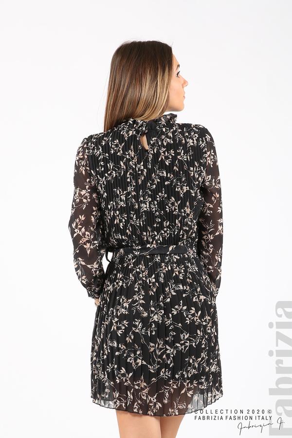 Къса рокля солей с флорални елементи черен 6 fabrizia