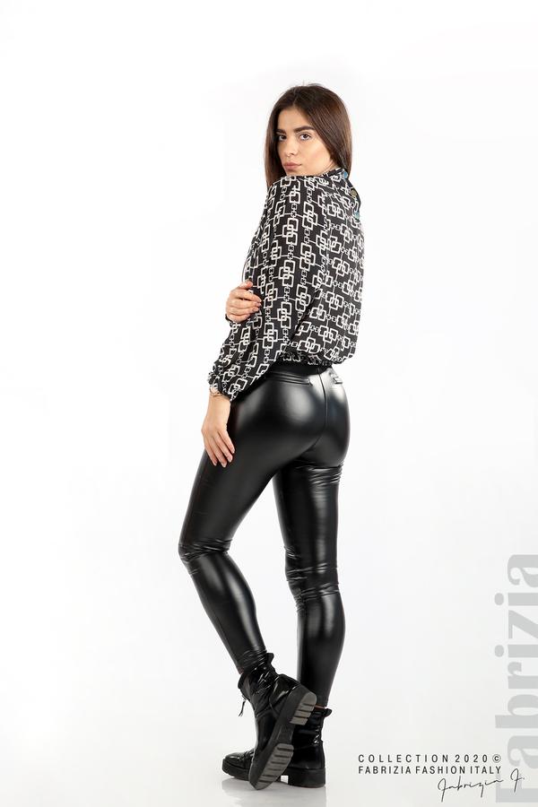 Ефирна блуза с фигурални елементи графит 5 fabrizia
