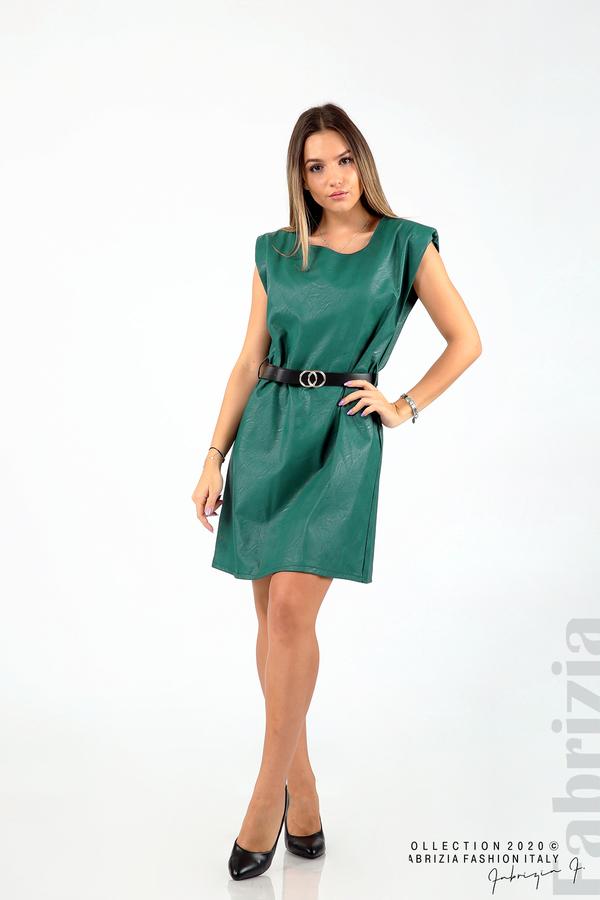 Къса кожена рокля с аксесоар отанио 3 fabrizia