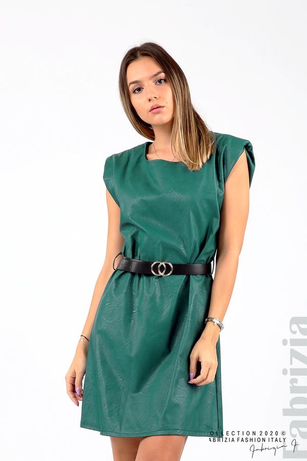 Къса кожена рокля с аксесоар отанио 4 fabrizia