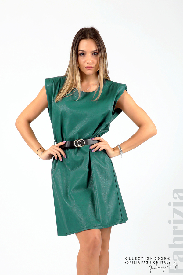Къса кожена рокля с аксесоар отанио 1 fabrizia
