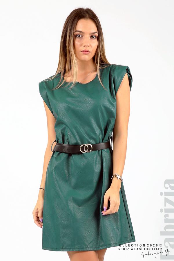 Къса кожена рокля с аксесоар отанио 2 fabrizia
