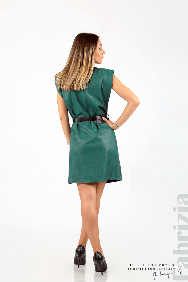 Къса кожена рокля с аксесоар отанио 5 fabrizia