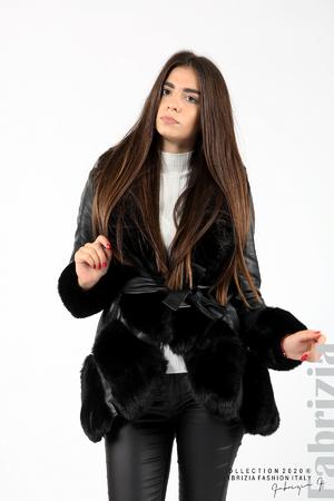 Кожено палто с колан