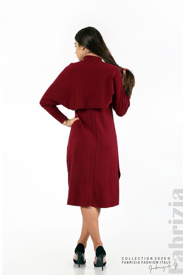 Комплект рокля без ръкав и широка блуза бордо 7 fabrizia