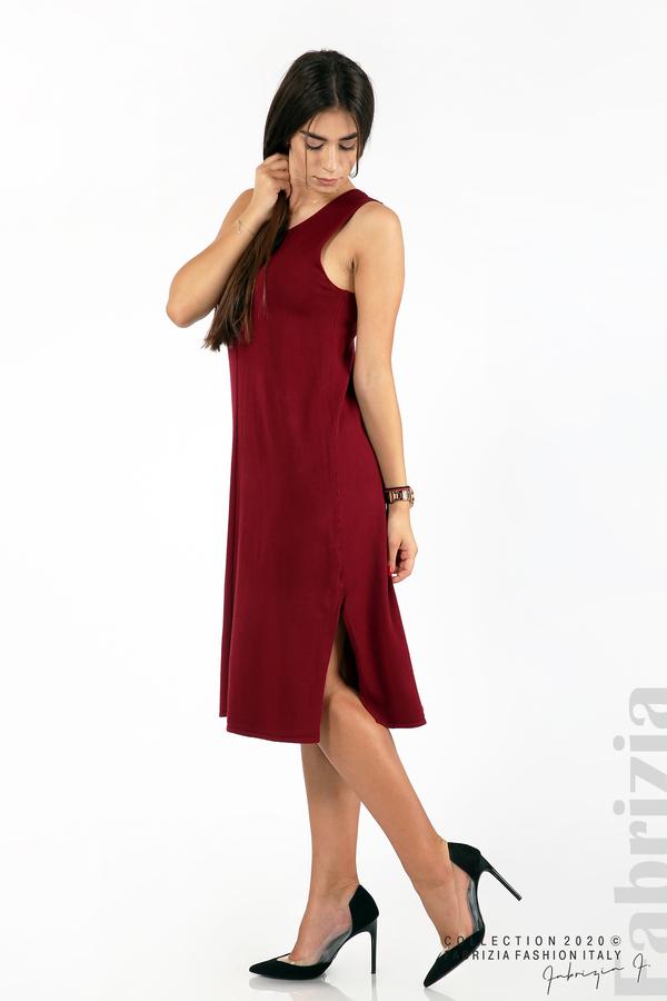 Комплект рокля без ръкав и широка блуза бордо 5 fabrizia